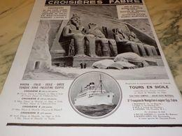 ANCIENNE PUBLICITE EGYPTE CROISIERE FABRE  1928 - Bateaux