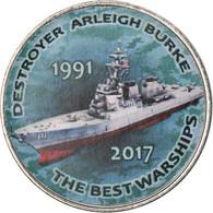 Monnaie, Zimbabwe, Shilling, 2017, Warship -  Destroyer Arleigh Burke, SPL - Zimbabwe