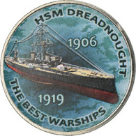 Monnaie, Zimbabwe, Shilling, 2017, Warship -  HSM Dreadnought, SPL, Nickel - Zimbabwe