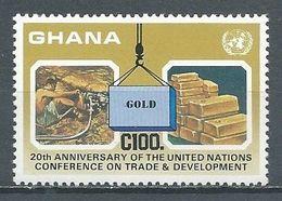 Ghana YT N°899 L'or Extraction En Lingots Neuf ** - Ghana (1957-...)