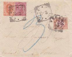 1900 SEGNATASSE C.30 Verona (26.3) Su Busta Affrancata Insuff - 1878-00 Umberto I
