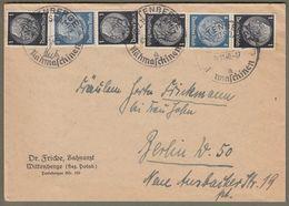Deutsches Reich: Brief Mit Zusammendrucke Mi.-Nr. 512 U. 514 Hindenburg , Gest. !   X - Storia Postale