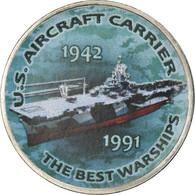 Monnaie, Zimbabwe, Shilling, 2017, Warship -  U.S Aircraft Carrier, SPL, Nickel - Zimbabwe