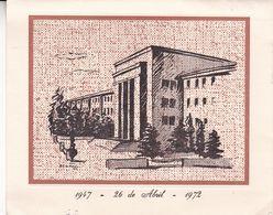 "25° AÑOS DEL COLEGIO NACIONAL ""PERITO MORENO"", COMODORO RIVADAVIA. ARGENTINE SPC CARTE ANNEE 1972 -LILHU - Argentina"