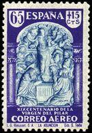 España 0906 (*) El Pilar. 1940. Sin Goma - 1931-Today: 2nd Rep - ... Juan Carlos I
