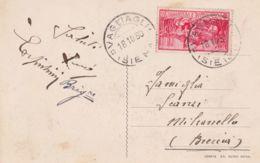 1930 FERRUCCI C.20 Isolato Su Cartolina Di Vagliagli (Siena) - Siena