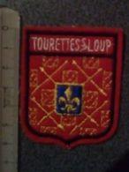 ECUSSON  TOURISTIQUE TISSUS TOURETTE S  LOUP - Ecussons Tissu