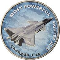 Monnaie, Zimbabwe, Shilling, 2019, Fighter Jet - Chengdu, SPL, Nickel Plated - Zimbabwe