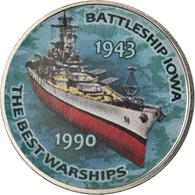 Monnaie, Zimbabwe, Shilling, 2017, Warship -  Battleship Iowa, SPL, Nickel - Zimbabwe