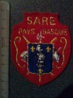 ECUSSON  TOURISTIQUE TISSUS  SARE   PAYS  BASQUE - Ecussons Tissu