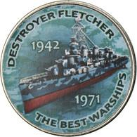 Monnaie, Zimbabwe, Shilling, 2017, Warship - Destroyer Fletcher, SPL, Nickel - Zimbabwe