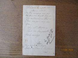 LANDRECIES LE 4 JUILLET 87 LURE BOULAGER MARCHAND DE BEURRE CARTE POSTALE ENTIER POSTAL CACHET LANDRECIES - Manuscripts
