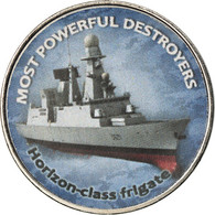 Monnaie, Zimbabwe, Shilling, 2018, Warship -  Destroyer Horizon, SPL, Nickel - Zimbabwe