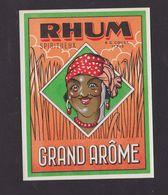 Ancienne étiquette Alcool France Rhum Grand Arôme Femme - Rhum