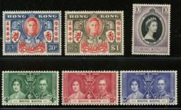 HONG KONG - 1937-53 Three (3) Sets. . Set Of 3 With Trace Of Hinge, Others MNH. - Hong Kong (...-1997)
