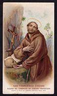 Santino: S. FRANCESCO D'ASSISI - E -PR - ANNO SANTO 1900 - Cromolito - RI-SANT29 - Religione & Esoterismo
