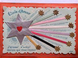 CPA.Fantaisie. Etoile D'amour.       (D1.853) - Fancy Cards