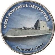 Monnaie, Zimbabwe, Shilling, 2018, Warship -  Destroyer Zumwalt, SPL, Nickel - Zimbabwe