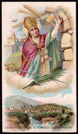 Santino: S. EMIDIO V. E M. - E - PR - Cromolitografia - RI-SANT19 - Religione & Esoterismo