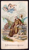 Santino: S. FRANCESCO D'ASSISI - E - PR - Cromolitografia - RI-SANT-14 - Religione & Esoterismo