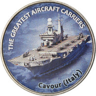 Monnaie, Zimbabwe, Shilling, 2019, Warship -  Porte-avions Cavour, SPL, Nickel - Zimbabwe