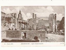 Militaria Montfaucon Après Le Bombardement - Guerra 1914-18