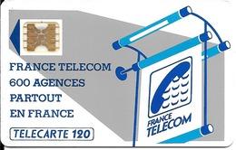CARTE-PUBLIC-600 AGENCES-120U-Te8.514-SC4Ob-Barre Inf Panneau + Petite-5 Pe 15957-UTILISE-TBE-RARE - France