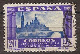 España U 0891 (o) Virgen Del Pilar. 1940 - 1931-50 Usati