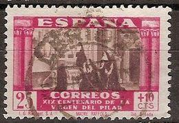 España U 0892 (o) Virgen Del Pilar. 1940 - 1931-50 Usati