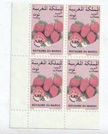 Maroc. Coin De 4 Timbres-Taxes Yvert Et Tellier N° 76 De 2008.  Fruits. Fraises. - Food