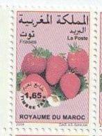Maroc. 2 Timbres-Taxes Yvert Et Tellier N° 75 Et 76 De 2007 Et 2008.  Fruits. Fraises. - Food