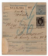 1913 AUSTRIA,BOSNIA,BOSANSKA DUBICA,PARCEL CARD - 1850-1918 Empire