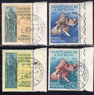 CITTÀ DEL VATICANO VATIKAN VATICAN 1961 S.PATRIZIO ST PATRICK SERIE COMPLETA COMPLETE SET USATA USED OBLITERE' - Vatican