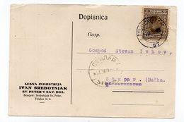 1929.KINGDOM OF YUGOSLAVIA,TPO 87 CELJE-VELENJE,IVAN SREBOTNJAK,SV.PETER V SAV.DOL.CORRESPONDENCE CARD,USED - 1919-1929 Kingdom Of Serbs, Croats And Slovenes