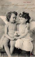 CPA  -  écrite  - Deux Petits Anges - Angels