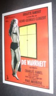 Carte Postale : Brigitte Bardot (film Cinéma Affiche) Die Wahrheit (La Vérité - Henri-Georges Clouzot) - Posters On Cards