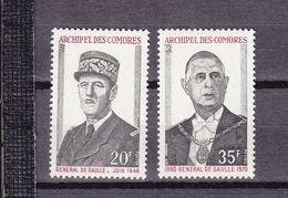 COMORES 77/78 DE GAULLE  LUXE NEUF SANS CHARNIERE - Neufs