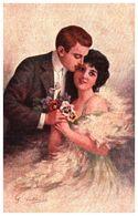 63 Illustration Italie Indéterminé, Couple Pensées (ars Parva 458 - Illustratori & Fotografie