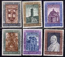 CITTÀ DEL VATICANO VATIKAN VATICAN 1961 GENETLIACO BIRTHDAY COMPLEANNO SERIE COMPLETA USATA COMPLETE SET USED OBLITERE' - Vatican
