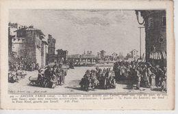 """CPA Paris - """"Ancien Paris"""" - La Porte Du Louvre - Le Pont Neuf - Puentes"""