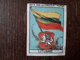 L20/233 Chromo Image Chocolat Pupier. Lituanie. Drapeau Et Armoiries - Chocolate