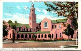 Florida Clearwater Peace Memorial Presbyterian Church 1930 Curteich - Clearwater