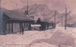 Bretaye VD Sous La Neige, Arrivée Du Train En Gare (521) - VD Vaud