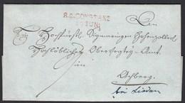 Baden -  R2 CONSTANZ Stempel Rot Klar Auf Schönem Porto Brief   (22162 - Baden