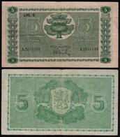 FINNLAND - FINLAND 5 MARKKA 1939 Litt. D PICK 69a VF- (3-) Serie A    (23612 - Finlande