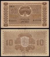 FINNLAND - FINLAND 10 MARKKA 1939 Litt. D PICK 70a VF (3) Serie B    (23624 - Finlandia