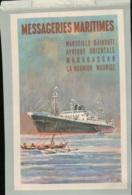 PUBLICITE  MESSAGERIES MARITIMES - Marseille Djibouti,Afrique Orientale,Madagascar,la Réunion,Maurice  Juin 2020 35 - Bateaux