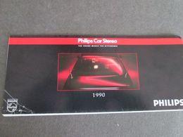 PHILIPS CAR STEREO,  ORIGINAL BROCHURE, 1990 - Literature & Schemes