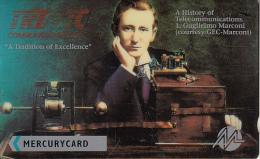 UK(GPT) - G.Marconi, TRT/FTC Communications(MER133), Mercury Telecard, CN : 20MERA, Tirage 5772, Mint - Téléphones