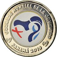 Monnaie, Panama, Journées Mondiales De La Jeunesse, Balboa, 2019, Colorised - Panama